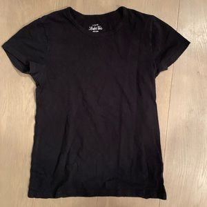 JCrew Plain Black Tee